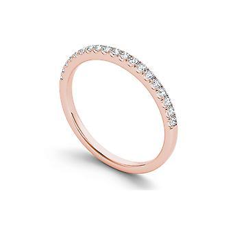 Igi certifierad fast 14k steg guld 1 /4 ct tdw diamant kvinnor & apos; s band
