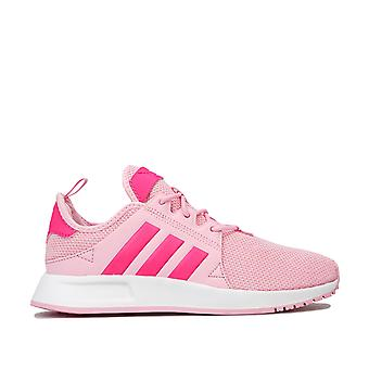 Junior Girls adidas Originals X Plr Trainers In Pink- Pull Tab To Heel- Lace