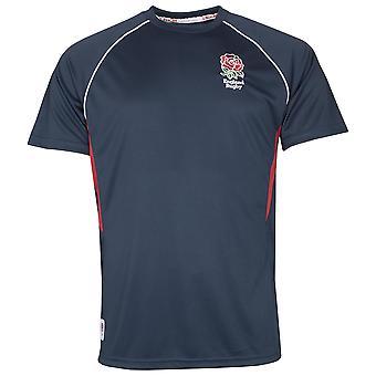 England RFU Rugby Mens Panel Poly T-shirt | Navy