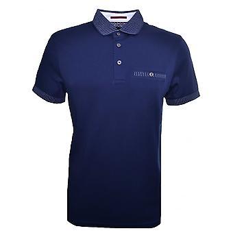 Тед Бейкер мужские рубашки поло в темно-синий Rickee