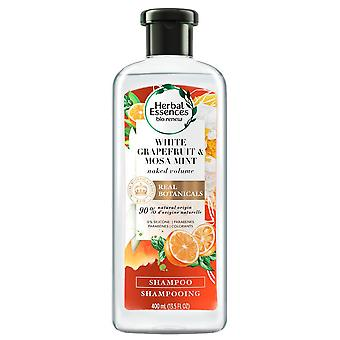 Herbal Essences Naked Volume Shampoo, Toranja Branca, 400 ml