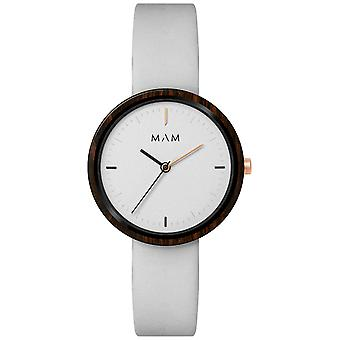 Mam Original Japanese Quartz Analog Woman Watch with PLANO Cowskin Bracelet 658