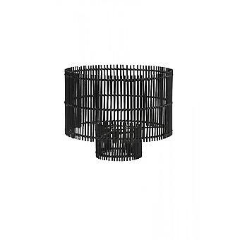 Svetlo & obývacia valec odtieň 40x35cm Rodger bambusu čierna