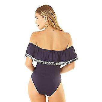 アンコールスタジオ女性'sバンドゥワンピース水着、私のアップル、ブルー、サイズ6.0