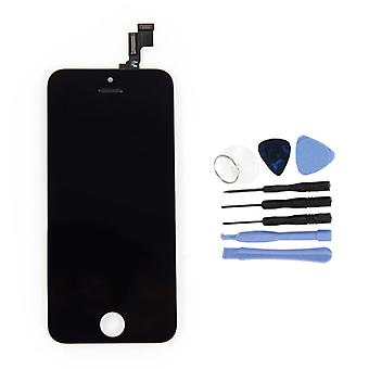 الاشياء المعتمدة® iPhone 5S الشاشة (شاشة تعمل باللمس + LCD + أجزاء) AAA + الجودة - أسود + أدوات