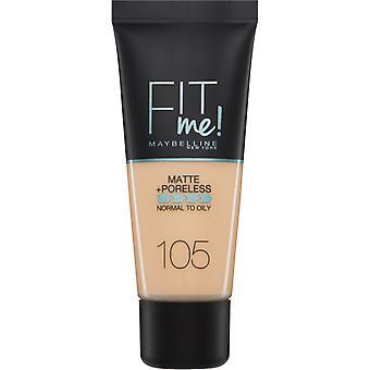 Maybelline Fit Me Matt + Poreless Foundation-105 natürliche Elfenbein