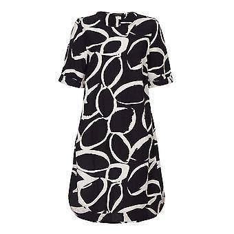 VIZ-A-VIZ Graphite Linen Blend Dress