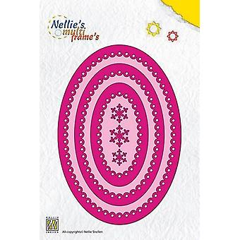 Nellie's Choice Multi Frame Dies - oval scalloped MFD080