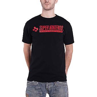SNES T Shirt Classic Logo new Official Retro Gamer Mens Black
