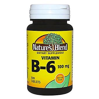 Nature's blend vitamin b-6, 100 mg, tablets, 100 ea