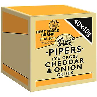 Pipers Lye Cross Cheddar & Onion Crisps