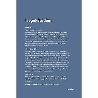 HegelStudien  HegelStudien Band 17 1982 by Pggeler & Otto