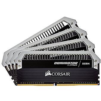 コルセア CMD32GX4M4A2666C15 ドミネーター プラチナ ハイパフォーマンス デスクトップ メモリ キット, DDR4 32 GB, 4 x 8 GB, 2666 MHz, ブラック