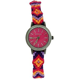 Kahuna Ladies Friendship Style Pink Dial Fabric Pull String Watch KLF-0019L