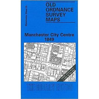 Manchester City centrum (gamle O.S. kort over Manchester) [faksimile] [foldede kort]
