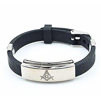 Siliconen verstelbare masonic armband