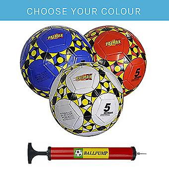 Palmax All Weather Football and Pump, Red, Red Ball + Pump, 9999208-RED