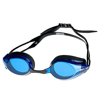 Arena Tracks Swim Goggle - Blue Lens - Black Frame