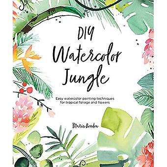 DIY Watercolor Jungle - Easy watercolor painting techniques for tropic