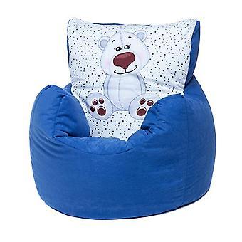 Loft 25 | Peuter Animal Print Soft Pluche Bean Bag Stoel (Ijsbeer, Blauw)