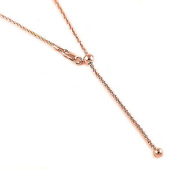 Fancy Chain Collier Sterling Argent Rose Or Plaqué Taille 24