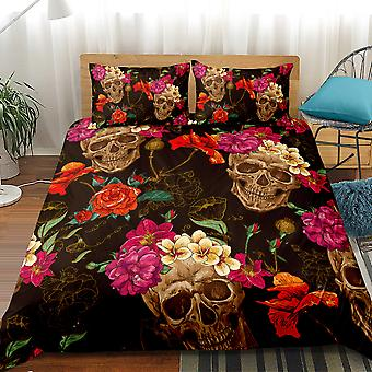 Skull Printed Bedding Set