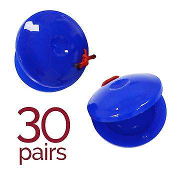 A-Star Plastic Finger Castanets - Pack of 30 pairs