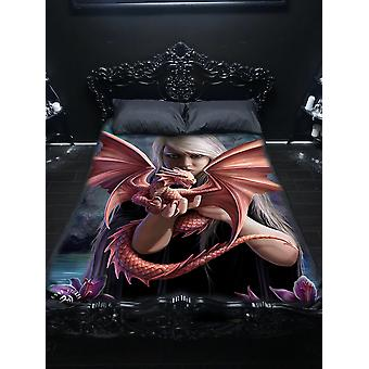 Wsh - dragon kin - twin bedspread top cover by anne stokes