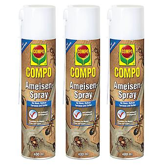Sparset: 3 x COMPO Ants Spray, 400 ml