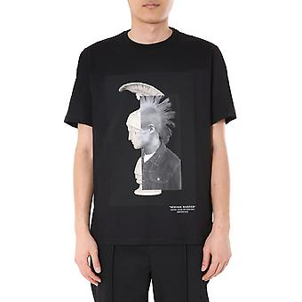 Neil Barrett Pbjt793bp508s1357 Men's Zwart Katoen T-shirt