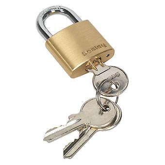 Sealey Pl100 Brass Body Padlock 30Mm