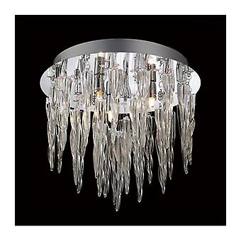 Ceiling Lamp Tropez 3 Bulbs With Rgb Leds And Remote Control Polished Chrome / Glass