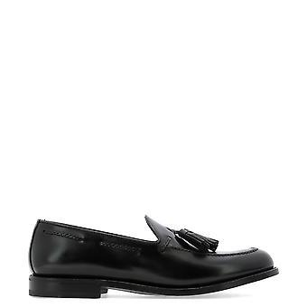 Fabi Fu9035nero Men's Locassins en cuir noir