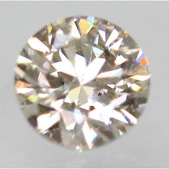 Cert 0.52 Carat TTL Brown VVS1 Round Brilliant Enhanced Natural Diamond 4.92mm