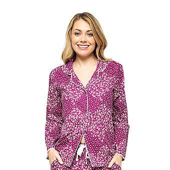 Cyberjammies Nova 4584 Women's Berry Disty Print Pyjama Top