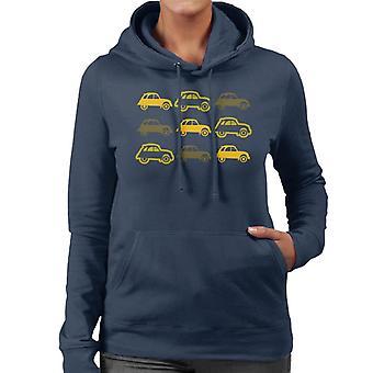 Citro�n Vintage 2CV Pattern Women's Hooded Sweatshirt