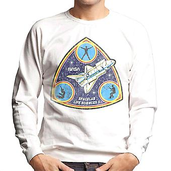 NASA Spacelab Life Sciences 1 Mission Badge Distressed Men's Sweatshirt