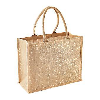 Westford Mill Metallic Shimmer Jute Shopper/Tote Bag (Pack of 2)