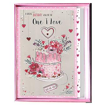 ICG Ltd Special Birthday Wish For The One I Love Boxed Cake Large Card