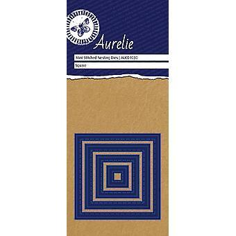 Aurelie Gestikte vierkante mini nesten sterven