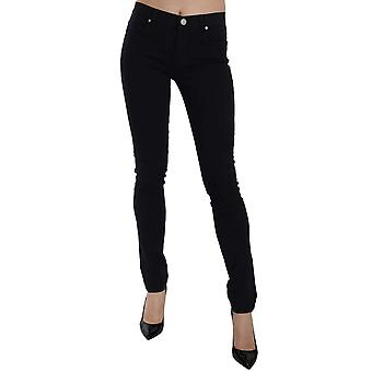 Versace Black Gabardine Stretch Luxor Slim Pants -- PAN6137520