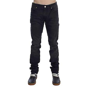 Gray Cotton Skinny Slim Fit Jeans -- SIG3789445