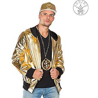King Rapper Rapper Jacket Gold Jacket Gold Glossy Jacket Herenkostuum Carnaval