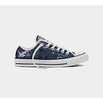Converse Ctas Ox 553437C Gunmetal/White/Black Women'S Shoes Boots