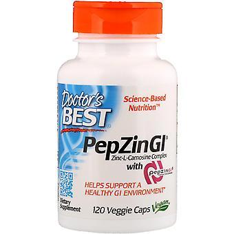 Doctor's Best, PepZin GI, Zink-L-Carnosin-Komplex, 120 vegetarische Kapseln