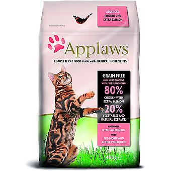 Applaws Dry Adult Cat - Kip en zalm - 400g