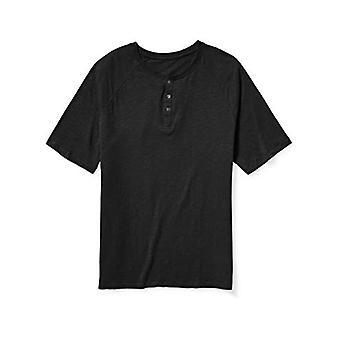 Essentials Men's Big & Tall Short-Sleeve Slub Henley T-Shirt fit by DX...