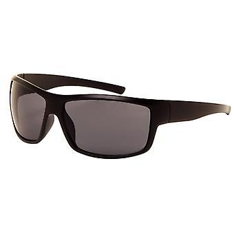 Okulary przeciwsłoneczne Unisex matowa czerń ze szkłem lustrzanym (180 P)