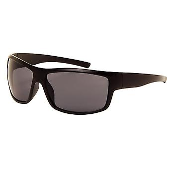 Zonnebril Unisex mat zwart met spiegelglas (180 P)