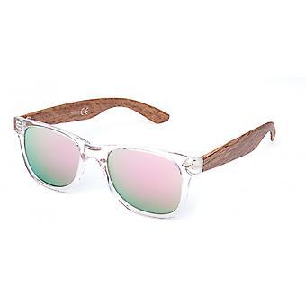Sonnenbrille Unisex  Wayfarer   rosa/transparent (20-191)